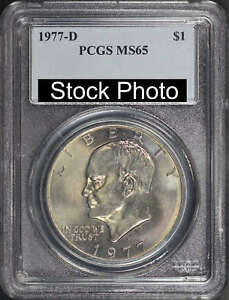 1977 D EISENHOWER IKE DOLLAR PCGS MS 65