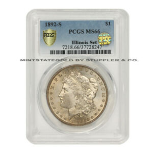 Click now to see the BUY IT NOW Price! 1892 S $1 SILVER MORGAN PCGS MS66 PQ APPROVED ILLINOIS SET SAN FRANCISCO COIN