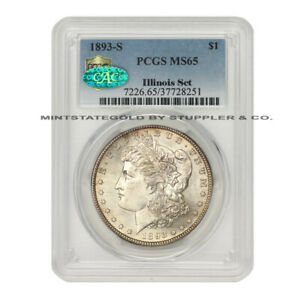 Click now to see the BUY IT NOW Price! KEY DATE OF SERIES 1893 S $1 SILVER MORGAN PCGS MS65 CAC CERTIFIED ILLINOIS SET