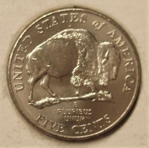 2005P JEFFERSON NICKEL  BISON   PULLED FROM OMWROLLS