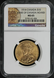 Click now to see the BUY IT NOW Price! 1914 CANADA GOLD $10 BANK OF CANADA HOARD NGC MS 65