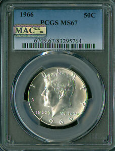 Click now to see the BUY IT NOW Price! 1966 KENNEDY HALF DOLLAR PCGS MS 67 PQ FINEST ST IN SERIES MAC SPOTLESS .