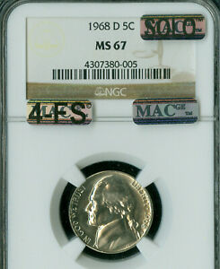 Click now to see the BUY IT NOW Price! 1968 D JEFFERSON NICKEL NGC MS67 4FS $30 000 IN FS MAC SOLO FINEST SPOTLESS .