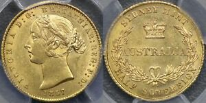 Click now to see the BUY IT NOW Price! AUSTRALIA 1857 SYDNEY MINT HALF SOVEREIGN   PCGS MS63