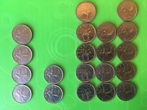 5 1973 CANADIAN MOUNTED POLICE QUARTERS  4 1974 5 1975 4 1969 2 1971 20 COIN LOT