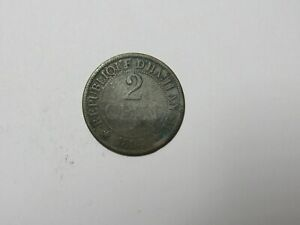 OLD HAITI COIN   1894 2 CENTIMES   CIRCULATED