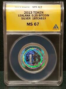 Click now to see the BUY IT NOW Price! 2013 LEALANA 0.25 BTC SILVER PHYSICAL BIT COIN TOKEN ANACS MS67 FUNDED/LOADED