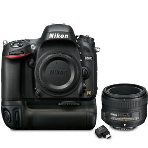 NIKON D610 DSLR CAMERA WITH 50MM F/1.8G LENS   WIRELESS MOBILE ADAPTER & BATTERY