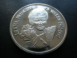 TURKS & CAICOS ISLANDS 1998 5 CROWNS. PRINCESS DIANA  PT45