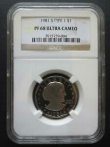 1981S TYPE 1 SUSAN B. ANTHONY DOLLAR NGC CERTIFIED PF68 ULTRA CAMEO