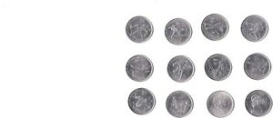 CANADA 2007 10 OLYMPIC   25C   SET OF 12 COINS. ALL IN UNCIRCULATED CONDITION