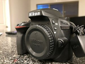 NIKON D3300 24.2MP DIGITAL SLR CAMERA   BLACK  BODY ONLY  5401 SHUTTER COUNT