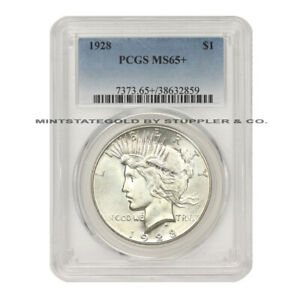 Click now to see the BUY IT NOW Price!  1928 $1 SILVER PEACE DOLLAR PCGS MS65  GEM GRADED PHILADELPHIA COIN