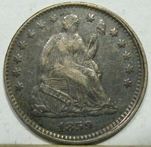 1859 O NEW ORLEANS SEATED LIBERTY HALF DIME