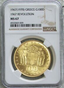 Click now to see the BUY IT NOW Price! 1970 GOLD GREECE 100 DRACHMAI 1967 REVOLUTION COIN NGC MINT STATE 67