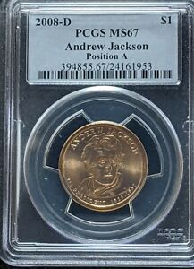 Click now to see the BUY IT NOW Price! 2008 D PCGS MS67 POSITION A ANDREW JACKSON PRESIDENTIAL DOLLAR SIMPSONS STORY
