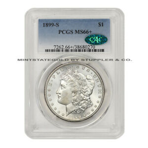 Click now to see the BUY IT NOW Price! 1899 S $1 SILVER MORGAN PCGS MS66  CAC CERTIFIED GEM GRADED SAN FRANCISCO DOLLAR