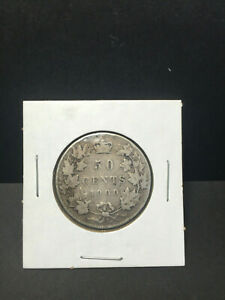 CANADA 1900 50 CENTS FIFTY CENTS SILVER COIN