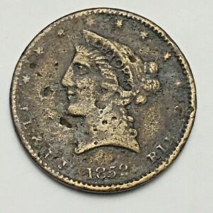 1852 CLASSIC STYLE LIBERTY $2.50 GOLD SIZE COUNTER   BRASS