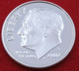 2002 S GEM PROOF DEEP CAMEO ROOSEVELT DIME FROM PROOF SET   90  SILVER  10650