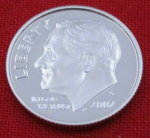 2002 S GEM PROOF DEEP CAMEO ROOSEVELT DIME FROM PROOF SET   90  SILVER  10653