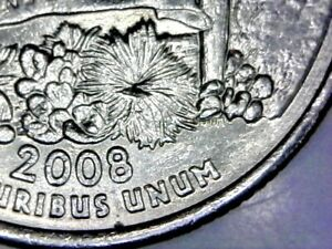 DIE CHIP ERROR   2008 P STATE QUARTER ARIZONA