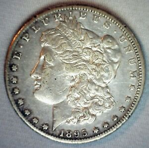 1895 O MORGAN SILVER DOLLAR COIN $1 US TYPE SILVER COIN NEW ORLEANS MINTED XF