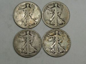 4 BETTER DATE WALKING LIBERTY HALF DOLLARS: 1917 1918 S 1920 D 1933 S.  48