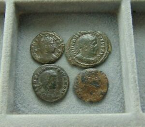 4 PIECES ROMAN EMPIRE FOLLIS LOT