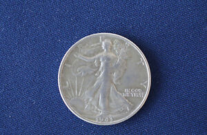 1943 S LIBERTY WALKING SILVER HALF DOLLAR M1339
