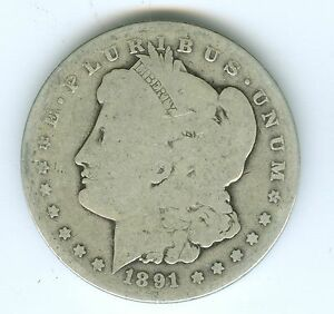 1891 O MORGAN SILVER DOLLAR  CIRCULATED