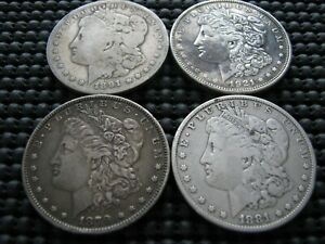 1879 1881 1891 O 1921 D MORGAN DOLLARS