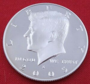 2005 S GEM PROOF DEEP CAMEO KENNEDY HALF FROM PROOF SET   UNC   CLAD  10848