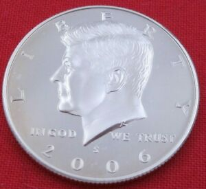 2006 S GEM PROOF DEEP CAMEO KENNEDY HALF FROM PROOF SET   UNC   CLAD  10849
