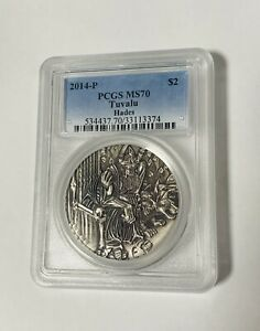 Click now to see the BUY IT NOW Price! 2014 $2 GODS OF OLYMPUS HADES 2OZ SILVER HIGH RELIEF COIN MS70 PCGS SALE