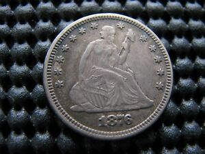 1876 P SEATED QUARTER WITH MPD AND RPD