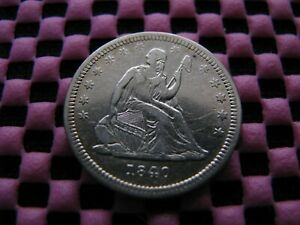 1840 SEATED QUARTER
