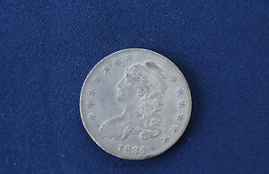 1834 CAPPED BUST SILVER HALF DOLLAR SMALL DATE GREAT TYPE COIN E4413