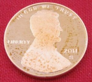 2011 S GEM PROOF DEEP CAMEO LINCOLN SHIELD CENT/PENNY  11073