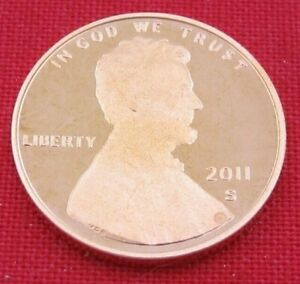 2011 S GEM PROOF DEEP CAMEO LINCOLN SHIELD CENT/PENNY  11075