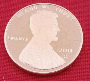 2011 S GEM PROOF DEEP CAMEO LINCOLN SHIELD CENT/PENNY  11077