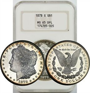 Click now to see the BUY IT NOW Price! 1878 S $1 NGC/OLD HOLDER MS 65 DPL  DEEP PROOF LIKE  MORGAN SILVER DOLLAR