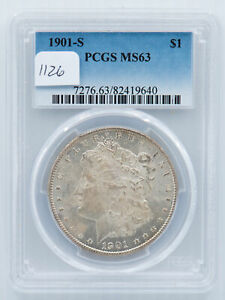 1901 S MORGAN DOLLAR. PCGS MS 63