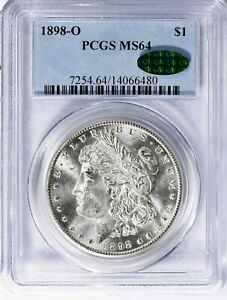 1898 O MORGAN SILVER DOLLAR   PCGS MS64 & CAC   GREAT LUSTER REASONABLY PRICED