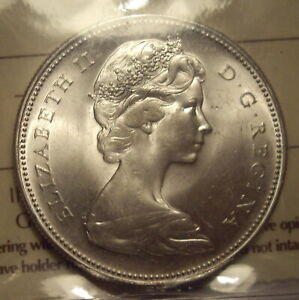 Click now to see the BUY IT NOW Price! CANADA ELIZABETH II 1967 SILVER DOLLAR   ICCS MS 65  XMX 063