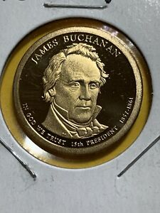 2010 S PRESIDENTIAL DOLLAR PROOF JAMES BUCHANAN JB GOLDEN NICE