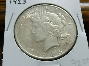 1925 PEACE DOLLAR   NICE CIRCULATED NO PROBLEM COIN