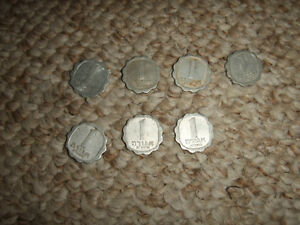LOT OF 7 ISRAEL 1962 5722 1 AGORA KM 24.1 COINS