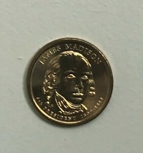 2007 P JAMES MADISON PRESIDENTIAL DOLLAR COIN  BU