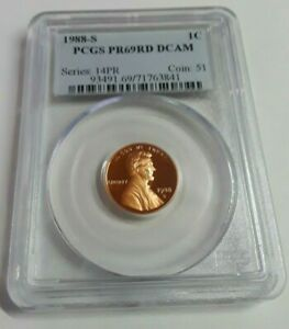 1988 S LINCOLN MEMORIAL CENT     PCGS PROOF 69 RED DEEP CAMEO